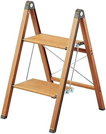 STOOL Escalera de mano Inicio Taburetes de escalera, pie pequeño Taburete de pie Silla alta Escalera de madera Escalera Estantería Escalera de mano Madera cruda Seguridad Estante de flores portátil B: Amazon.es: