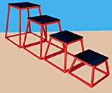 Set of 4 Plyometric Platforms - 12'', 18'', 24'', 30''