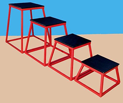 Set of 4 Plyometric Platforms - 12'', 18'', 24'', 30'' by TDS