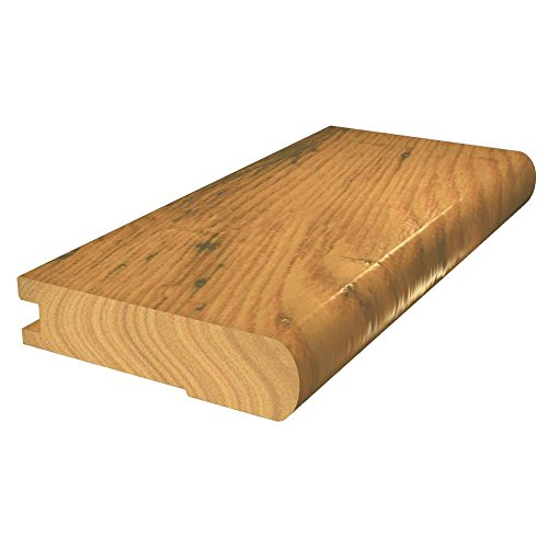 Shaw Appling Spice 3/8 in. x 2 3/4 in. x 78 in. Hickory Flush Engineered Hardwood Stairnose Molding