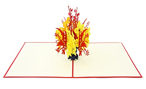 PopLife Beautiful Flower Bouquet 3D Pop Up Greeting Card for All Occasions - Loved Ones, Romantic, Floral Lovers - Folds Flat for Mailing - Birthday, Graduation, Get Well, Anniversary, Engagement Gift