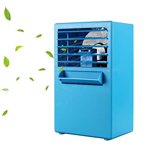 YOUDirect Portable Mini Air Conditioner Fan 9.5-inch - Small Desktop Fan Mini Evaporative Air Cooler Fan (Blue/)