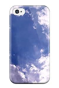 For Iphone 4/4s Tpu Phone Case Cover(cloud) wangjiang maoyi