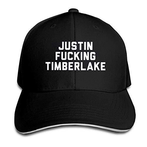 Justin Fucking Timberlake Hip Hop Baseball Cap Golf Trucker Baseball Cap Adjustable Peaked Sandwich Hat Black