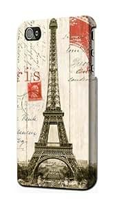 S1296 Eiffel Tower Paris Postcard Case Cover For IPHONE 5 5S
