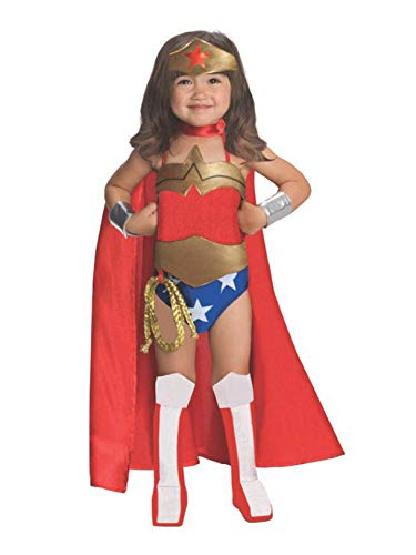 Rubies DC Super Heroes Collection Deluxe Wonder Woman Costume, Toddler -