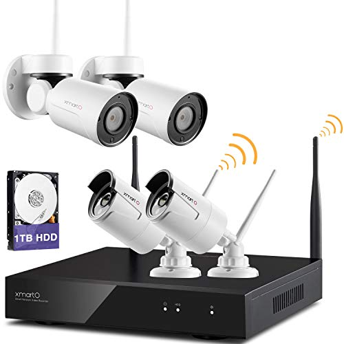 XMARTO Home Security Camera System Wireless | 2pc Pan/Tilt/Zoom for sale  Delivered anywhere in USA