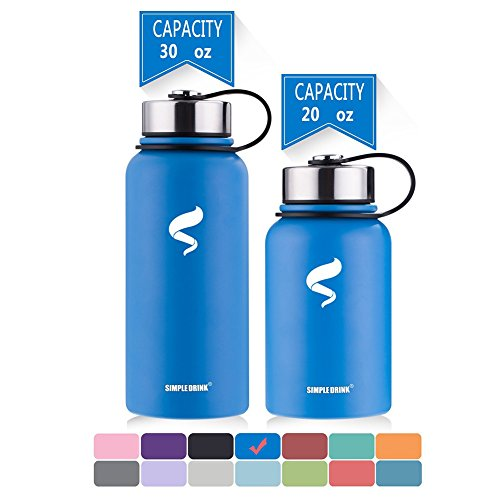 Simple Drink BPA Free Metal Insulated Water Bot...