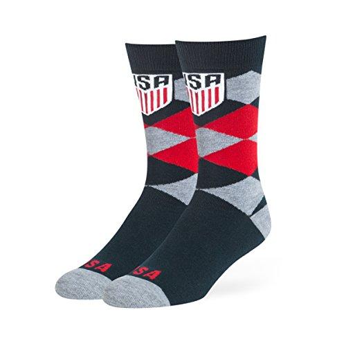 U.S. Soccer Mens National Team OTS Blaine Dress Sock, Logo, Large