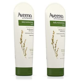 Aveeno Daily Moisturizing Body Lotion with Soothing Oat and Rich Emollients to Nourish Dry Skin, Fragrance-Free, 8 fl…