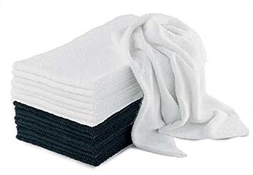 10 toallas blancas para peluquería - Esponja Esponjas para peluquería blanco: Amazon.es: Hogar