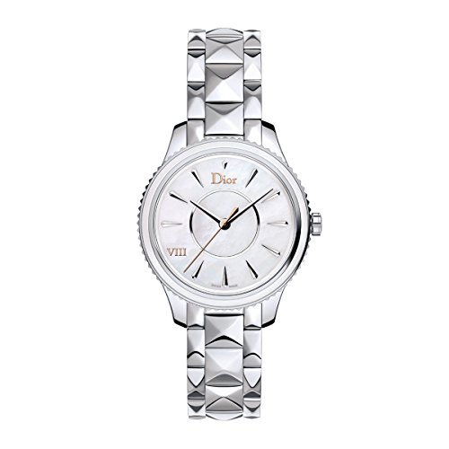 New Ladies Christian Dior Montaigne Stainless Steel MOP Pearl 32mm Watch