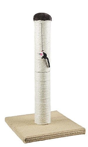 Evalan Cat Scratching Post Sisal Wrapped, Ultimate Cat Scratcher 22' with Mouse Moving Cats Toy
