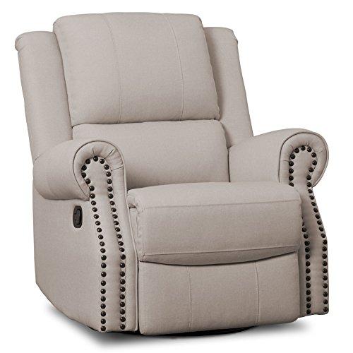 Find Cheap Delta Children Dylan Nursery Recliner Glider Swivel Chair, Flax
