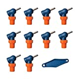 Loc-Line 79082 Acetal HPT Nozzles (XR Style) with Adjustment Lever, 0.062'' x 0.5'', Thread Size 1/4'' (Pack of 11)