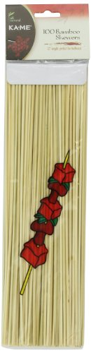 Ka-Me Bamboo, Barbecue Skewers, 100 Count (Pack of 12)