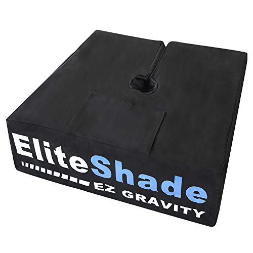 "EliteShade 19"" Square Umbrella Base Weight Bag Market Patio Outdoor Heavy Duty Umbrella Holder - Up to 110 lbs"