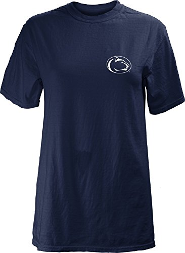 Three Square by Royce Apparel NCAA Penn State Nittany Lions Junior's Comfort Colors Short Sleeve T-Shirt, Medium, Navy