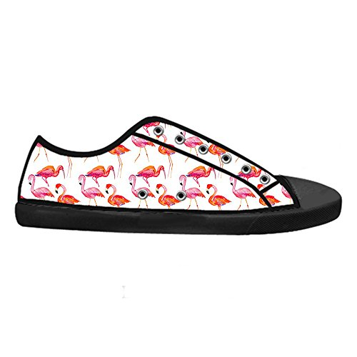 Custom Flamingo Pattern Mens Canvas shoes Schuhe Lace-up High-top Sneakers Segeltuchschuhe Leinwand-Schuh-Turnschuhe A