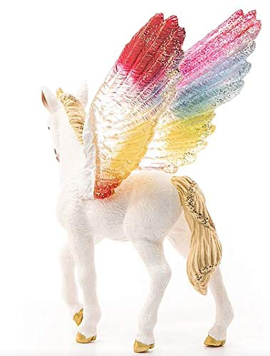 Schleich bayala Winged Rainbow Unicorn Foal Imaginative Toy for Kids Ages 5-12