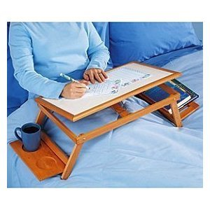 UPC 846084072195, MULTI-FUNCTIONAL LAPTOP & READING BAMBOO STAND / LAP DESK / BREAKFAST BAMBOO BED TRAY, ALL NATURAL AND ENVIRONMENTAL FRIENDLY BAMBOO WOOD LAPTOP STAND AND TRAY, LAPTOP TABLE FOR BED OR COUCH