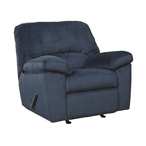 Ashley Furniture Signature Design - Dailey Contemporary Rocker Recliner - Manual Reclining - Midnight