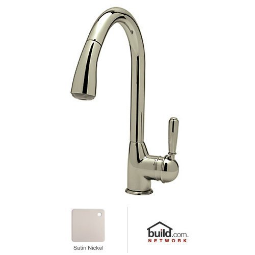 Rohl R7504SLMPN-2 Single Hole Classic Side Lever Pulldown Bar/Food Prep Faucet with Metal Lever, Polished Nickel by Rohl