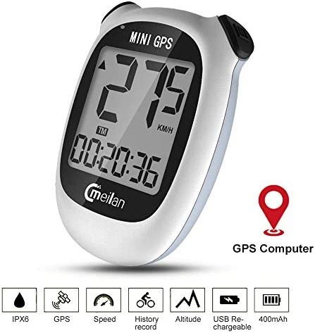 MEILAN M3 Mini Bike Computer GPS Wireless, Bike Speedometer and Odometer Wireless Waterproof with LCD Display, USB Rechargeable 400 MAh Battery GPS Computer for Bike Ship from US