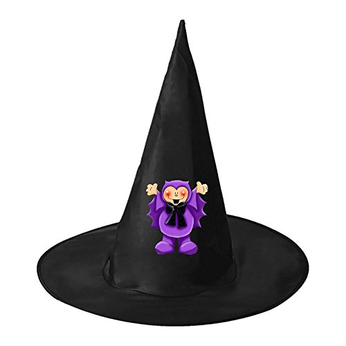 Purple Bat Doll Halloween Black Witch Hats Costume Party Carnivals Cosplay Accessory Cap Toys For Women Men and (Halloween Exorcist Doll)