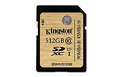 Kingston SDA10/512GB Tarjeta Flash Sd de 512 Gb Clase 10 Uhs-1, 512Gb
