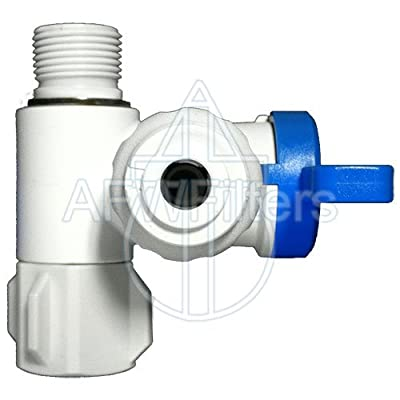 "3/8"" Angle Stop Adapter Ball Valve with 1/4"" Quick Connect Fitting - Reverse For Osmosis & Drinking Water Filters from Abundant Flow Water"