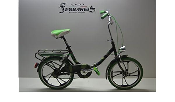 Bicicleta Graziella plegable de paseo, ruedas de 20 pulgadas, de aluminio, ruedas de radios: Amazon.es: Deportes y aire libre