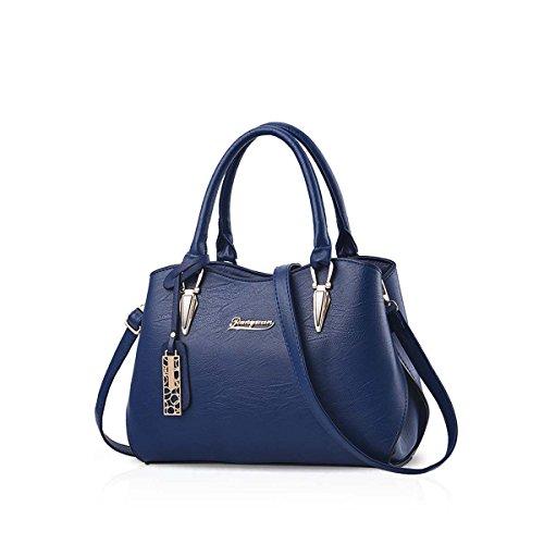 Nicole&Doris Fashion Woman Shoulder Bag Medium Sized Hand Bag Elegant Crossbody Bag for Ladies Dark Purple Royal blue