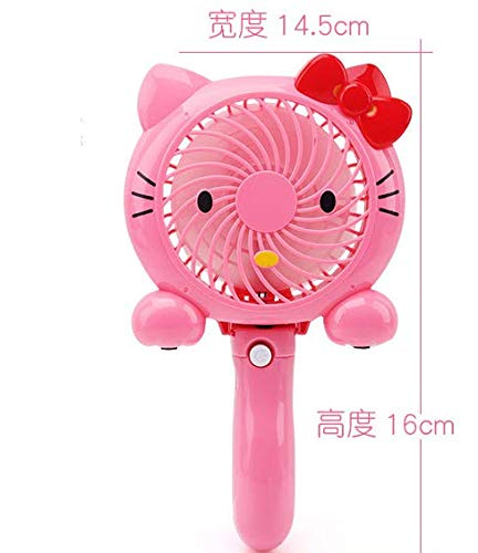 - Student Portable Kitty Cat USB Rechargeable Mini Little Fan Cute Cartoon Kids Dual Handheld Electric Fan