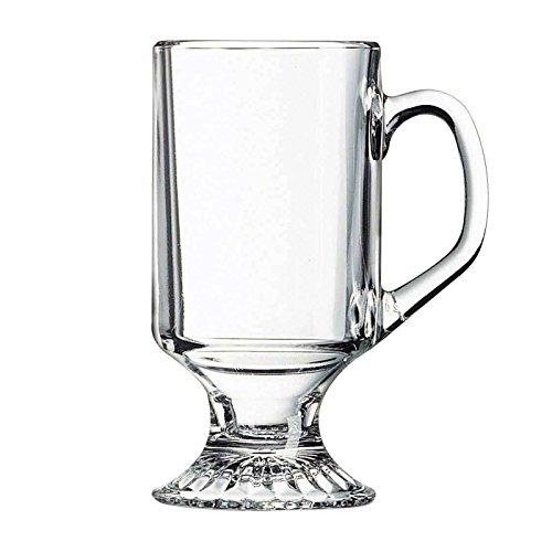Winco 24-Piece Footed Mug Set, 10-Ounce 10 Ounce Footed Mug
