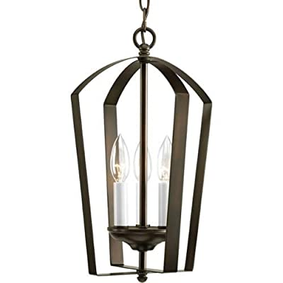 "Progress Lighting P3928 Gather 3 Light Foyer Pendant - 10"" Wide,"