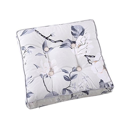 Fashion Seat Cushion,Ikevan New Soft Home Office Decoration Canvas Printing Cushion Removable Tatami Mat Office Chair Square Buttocks Seat Pads 15.7''X15.7'' (Embroidered Mat Standard)