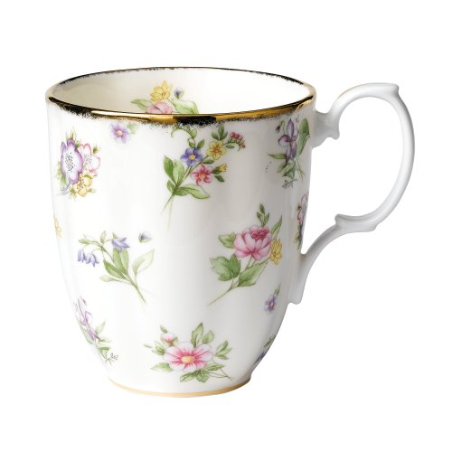 rs of Royal Albert 1920 Spring Meadow Mug (Cream Background Gold Trim)