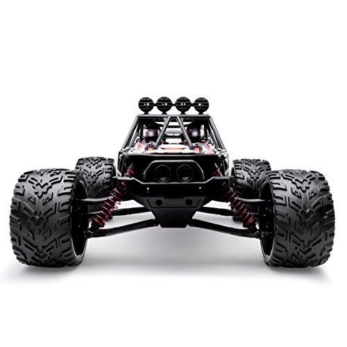 HOSIM RC Truck 9123, 1/12 Scale Radio Controlled Electric Fast Racing Car - High Speed 38km/h Offroad 2.4Ghz 2WD Radio Controlled Monster Truck Truggy - Best Gift for all Car Enthusiast (Orange)? (Cheap Rc Trucks Waterproof)