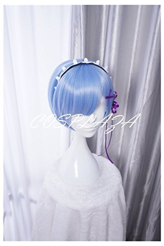 COSPLAZA Cosplay Wigs Fashion Short Pink Blue Anime Hair Fancy Girl Party Wig Hair
