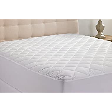 Queens Size Hypoallergenic Quilted Stretch-to-Fit Mattress Pad By Hanna Kay, 10 Year Warranty-Clyne Collection