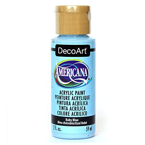 DecoArt Americana Acrylic Paint, 2-Ounce, Baby Blue Decoart Americana Acrylic Paints