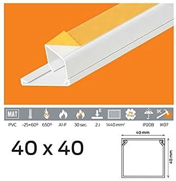 40/x 40 30/x 30 40/x 25 25/x 25 40/x 40 16/x 16 Canal de c/âble 20/m PVC Couleur Blanc Autocollant 15/x 10 20/x 10 25/x 16