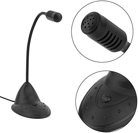 FinukGo Tischmikrofon CD-2000 Kleines praktisches Notebook Mikrofon Studio Speech Mic St/änder Halter f/ür PC schwarz
