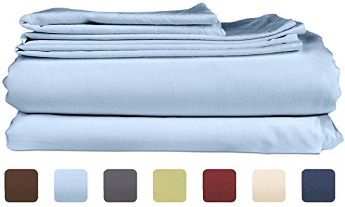 Berries 16 Piece Set (Queen Size Sheet Set - 4 Piece - Hotel Luxury Bed Sheets - Extra Soft - Deep Pockets - Easy Fit - Breathable & Cooling - Wrinkle Free - Comfy – Light Blue Bed Sheets – Queens Baby Blue– 4 PC)