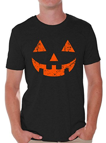 Awkward Styles Men's Jack O' Halloween Pumpkin T Shirts Tops Halloween Horror Funny Tee Black 2XL -