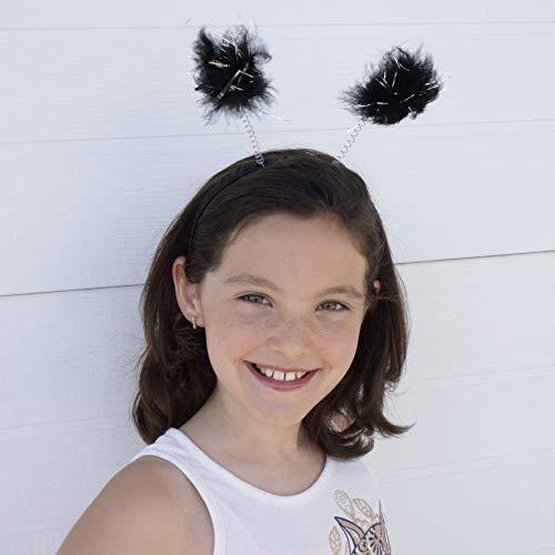 Black Antenna Costume Novelty Headband - Robot Ladybug Space Head Alien Costume Accessories ()