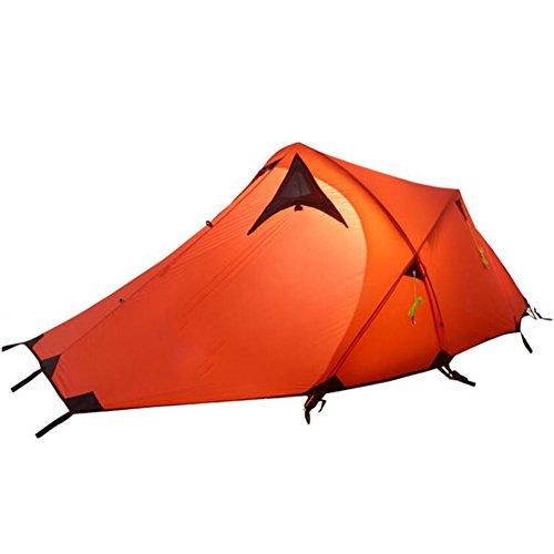 負担用心深い矢2屋外テント超軽量アルミポールキャンプキャンプテントダブルキャンプテントアウトドアバックパックテントキャンプ用の速乾性防風レインプルーフ