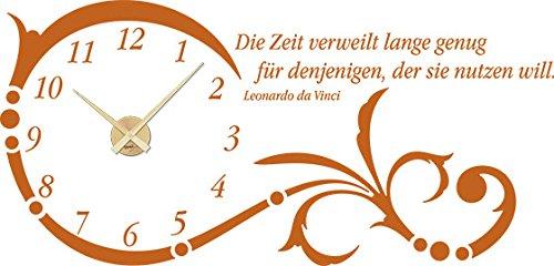 GRAZDesign Wanduhr groß Aufkleber Ornament mit Spruch - - - Wandtattoo Uhr mit Uhrwerk Die Zeit verweilt Lange genug - Uhren Wand Tattoo mit großen Zahlen   119x57cm   800331_GD_080 B00GTU9ZAG Wandtattoos & Wandbilder 6f839c