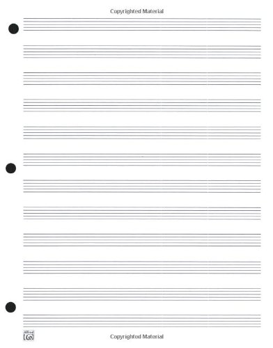 12 Staff Music Writing Pad (Loose Pages (3-hole punched for ring ...